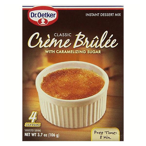 Dr. Oetker Creme Brulee Mix 3.4 oz Boxes - Pack of 12