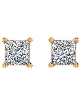 40122da47 Product Image 1/5 ct tw G VS2 Natural Princess Cut Diamond Stud Earrings  14K Yellow Gold. Glitz Design