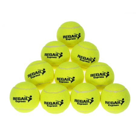 10pcs/bag Tennis Training Ball Practice High Resilience Training Durable Tennis Ball Training Balls for Beginners Competition - image 1 of 7