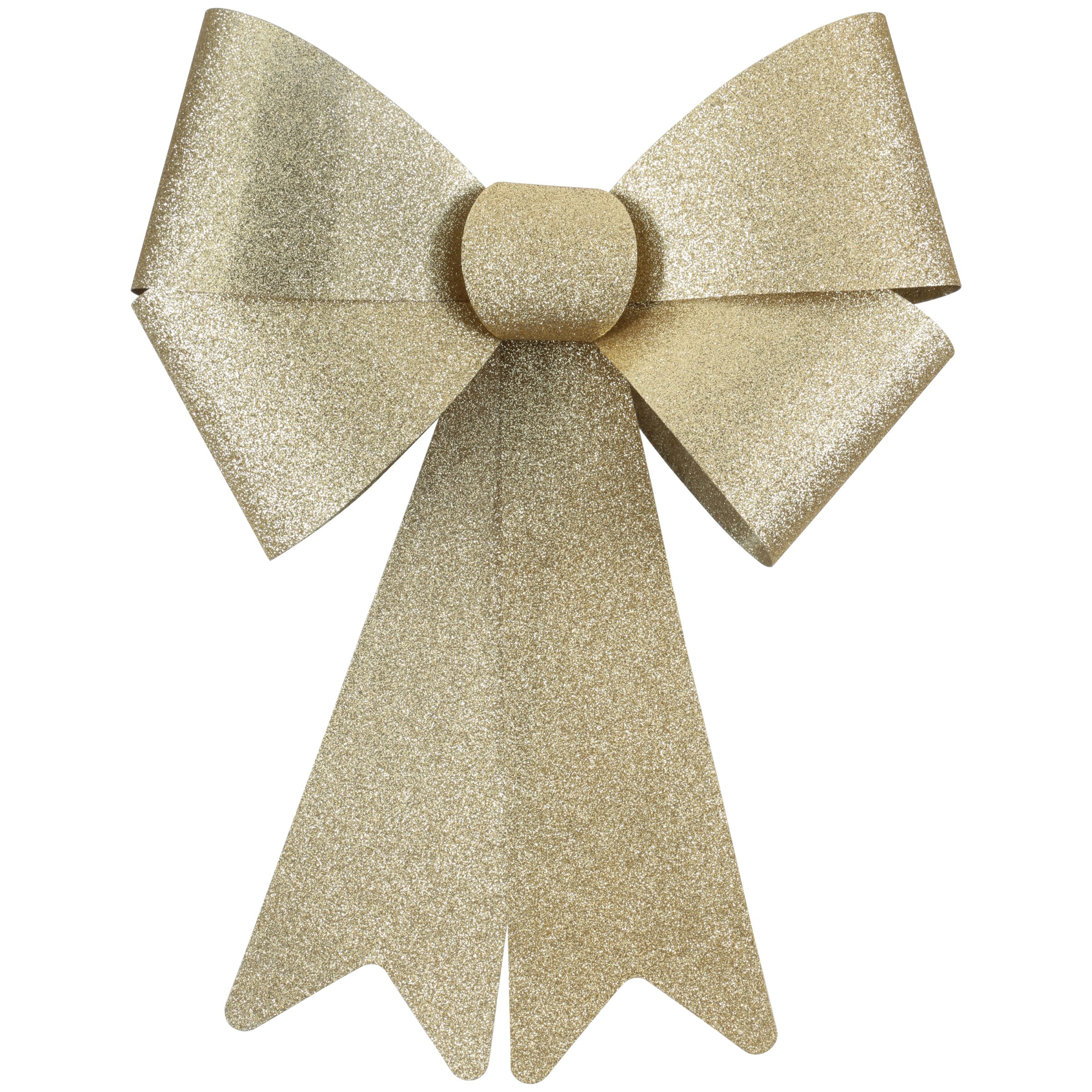 Holiday Time Gold Decorative Bow