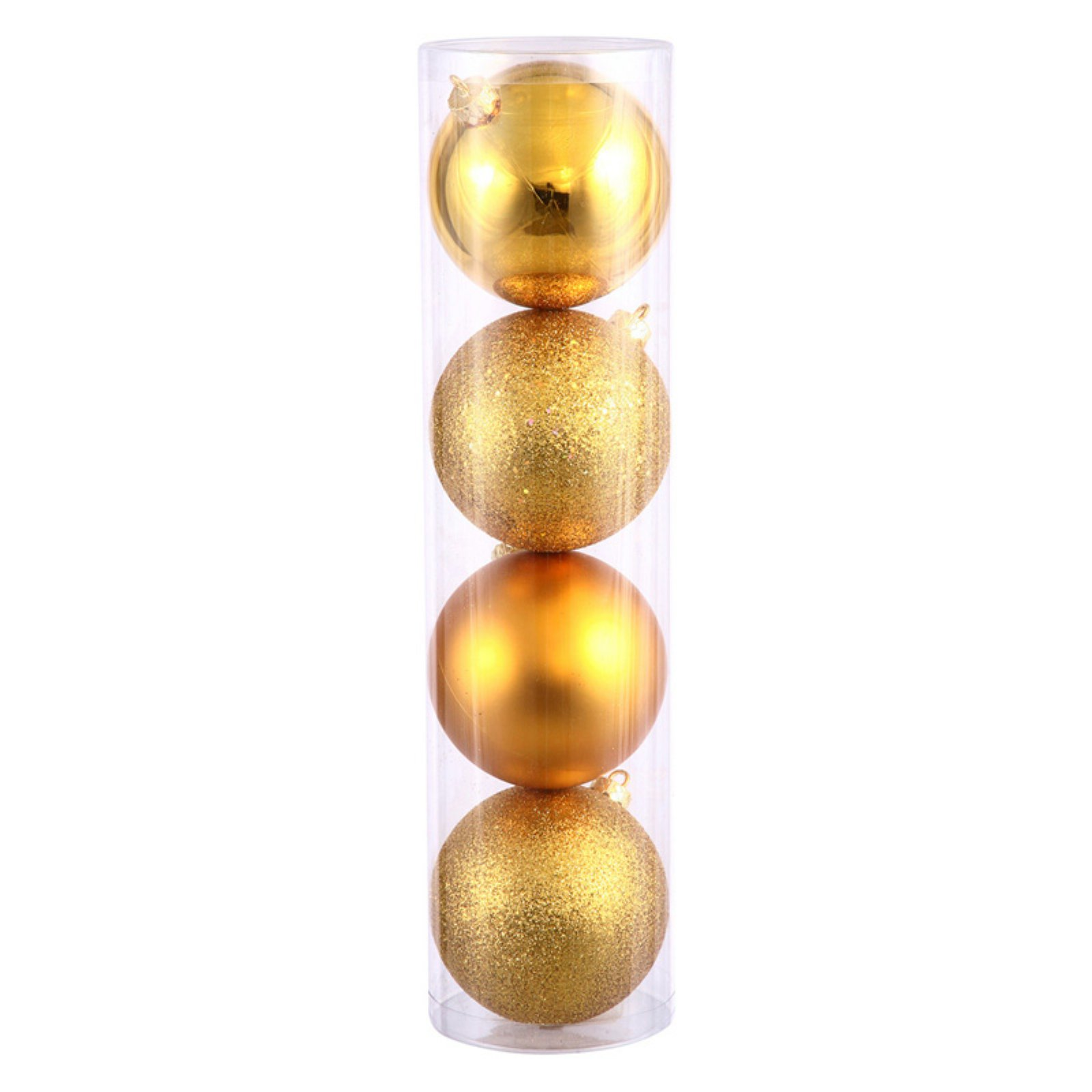 "Vickerman 2.4"" Antique Gold 4-Finish Ball Ornament Assortment, Set of 24"