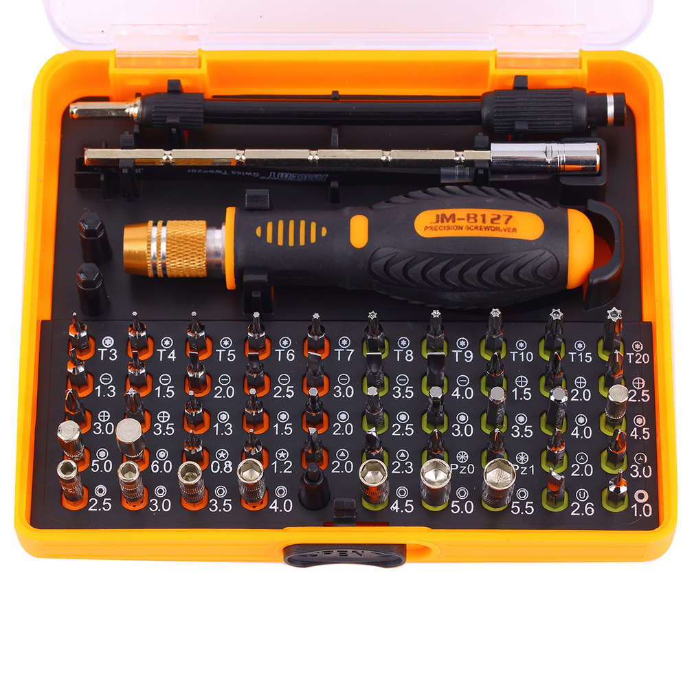 53 in 1 Multi-purpose Precision Magnetic Screwdriver Set with Trox Hex Cross Flat Y Star Triangle Screw Driver For Phone PC