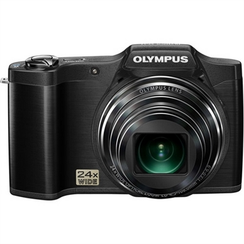 Refurbished Olympus SZ-12 14MP Digital Camera with 24x Wide-Angle Zoom (Black)