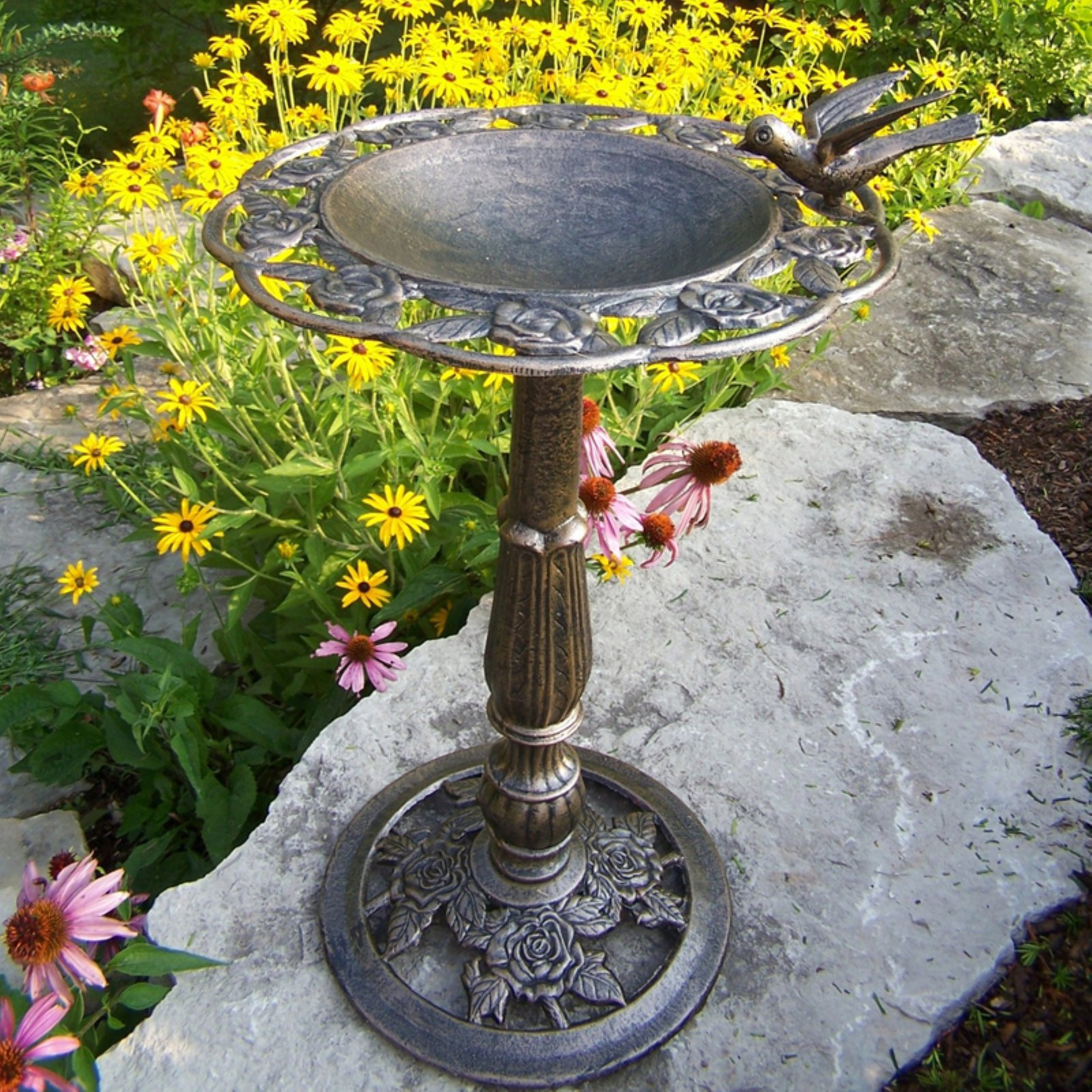 Oakland Living Rose Birdbath by Oakland Living