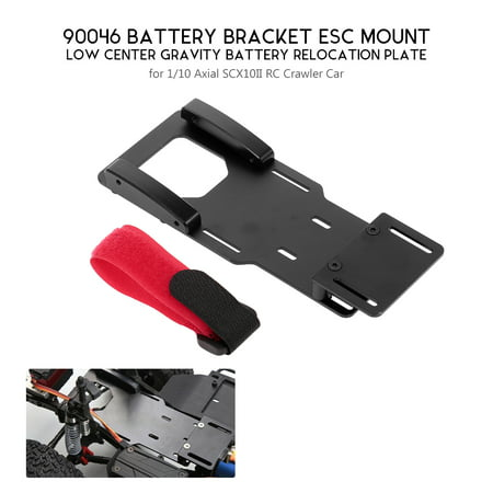 90046 Battery Bracket ESC Mount Low Center Gravity Battery Relocation Plate for 1/10 Axial SCX10II RC Crawler Car