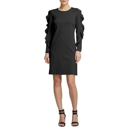 Donna Karan Ruffled Long Sleeve Sheath Dress Walmart