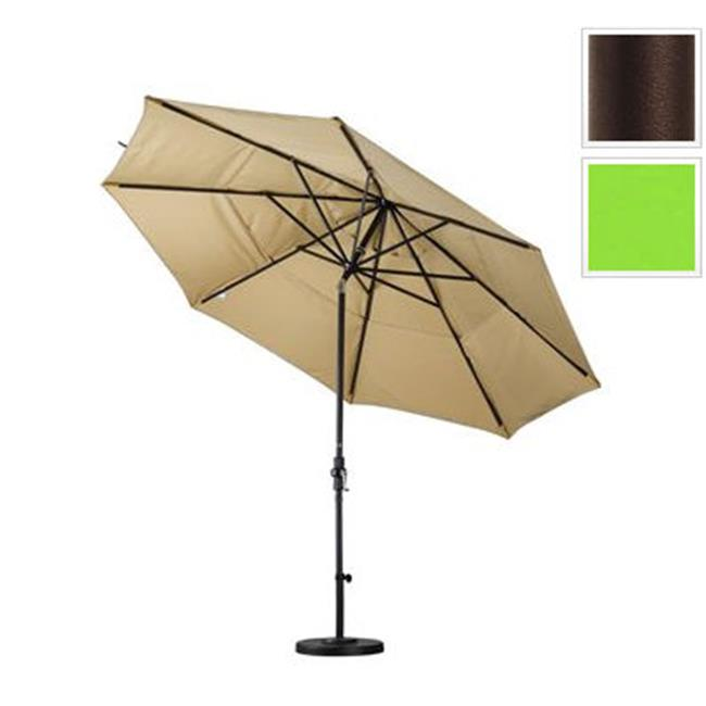 11 ft. Aluminum Market Umbrella Collar Tilt DV Bronze-Pacifica-Ginkgo