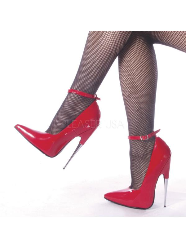 """SCR12/R Devious Single Soles 6"""" Scream Shoes RED Size: 8"""