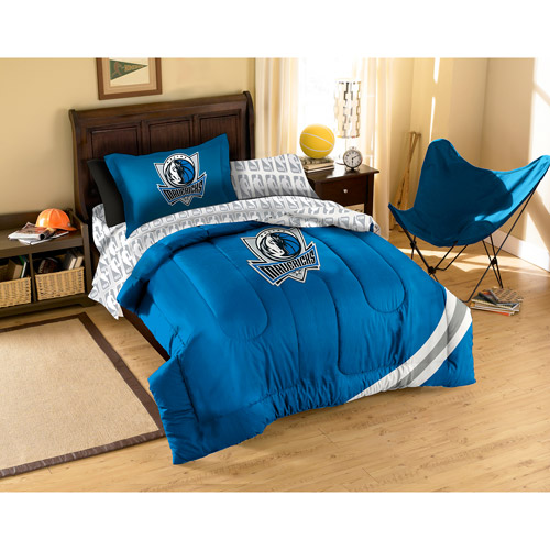 NBA Applique 5-Piece Bedding Comforter Set, Mavericks