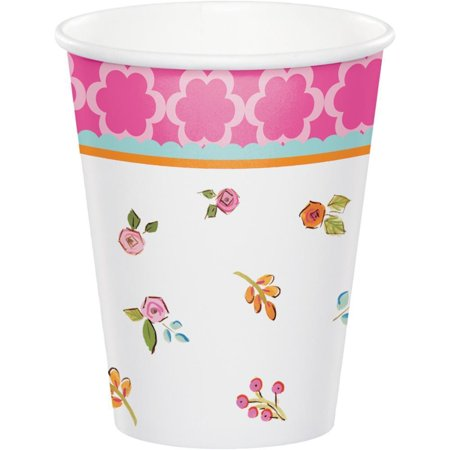 Tea Time Birthday Party Cups, Hot/Cold 9 oz, 8 ct - Birthday Tea Party