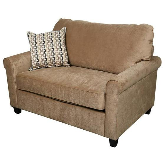 Outstanding Serena Plush Microfiber Twin Sleeper Sofa Khaki Cjindustries Chair Design For Home Cjindustriesco