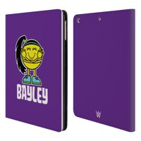 OFFICIAL WWE BAYLEY LEATHER BOOK WALLET CASE COVER FOR APPLE IPAD