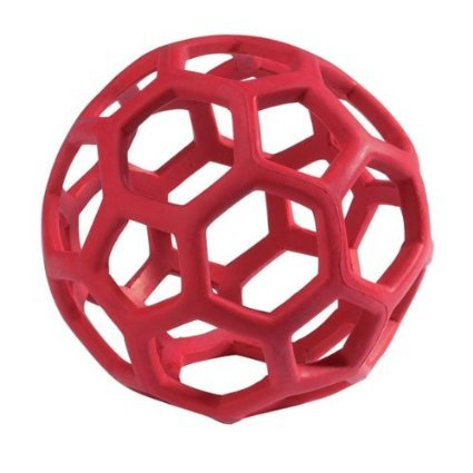 JW Hol-ee Roller Size:Large Packs:Pack of 1 Color:Assorted, Natural rubber chew toy By HPD