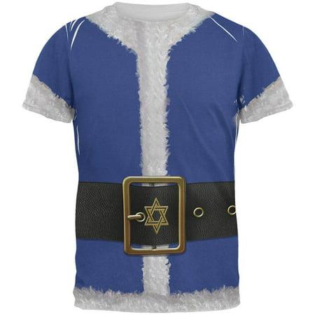Christmas Hanukkah Jewish Santa Claus Costume All Over Mens T Shirt - Jewish Costume