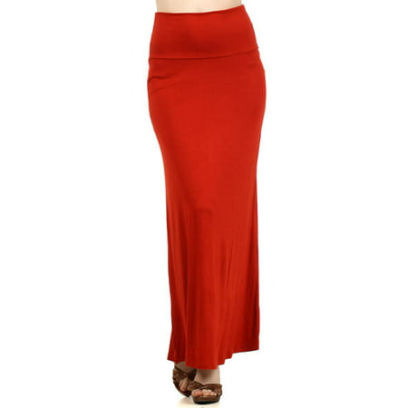 Women's solid maxi Skirt - Red White And Blue Skirt
