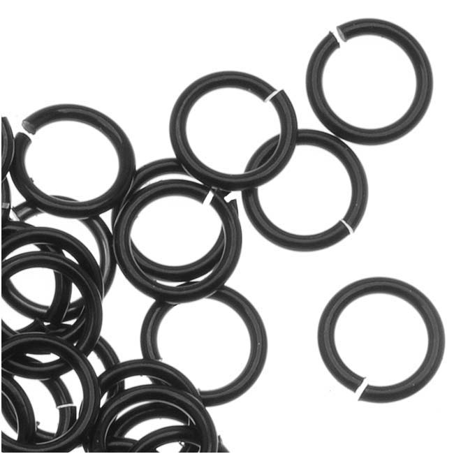 Artistic Wire, Chain Maille Jump Rings, 20 Ga / ID 4.76mm / 140pc, Black Color