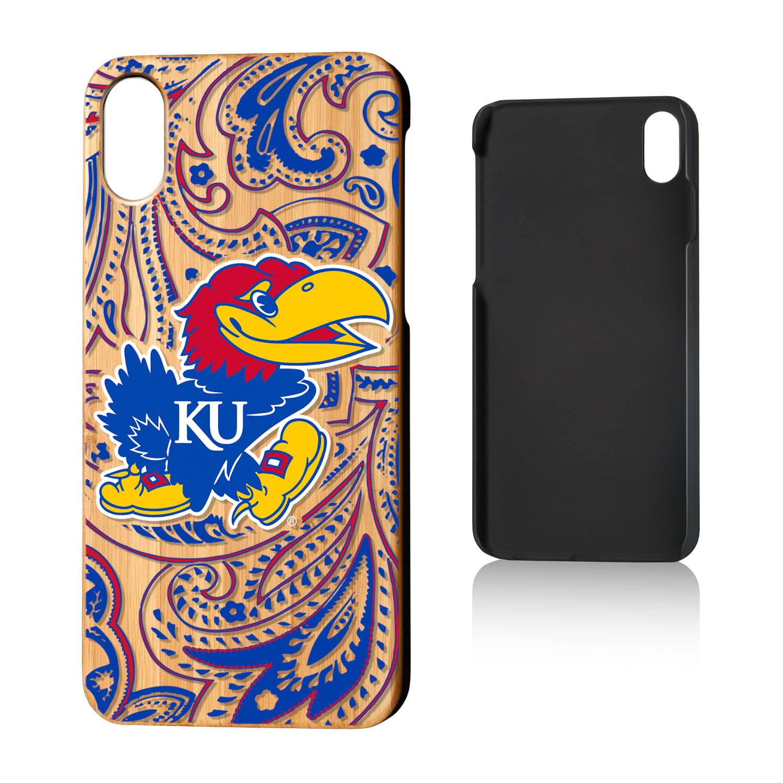 KU Kansas Jayhawks Paisley Bamboo Case for iPhone X