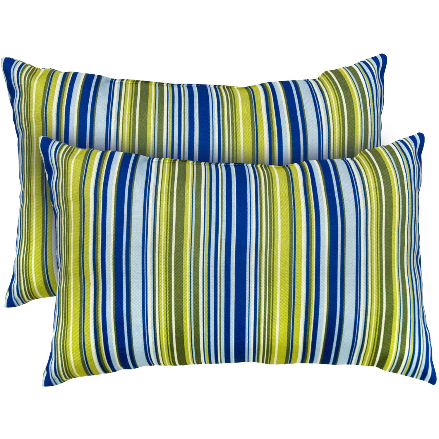Rectangle Indoor Accent Pillows, Set of 2, Vivid Stripe