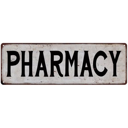 PHARMACY Vintage Look Rustic Metal Sign Chic City State Retro 6185878