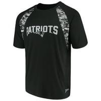 a13b5240298 Product Image Men s Zubaz Black New England Patriots Camo Raglan T-Shirt