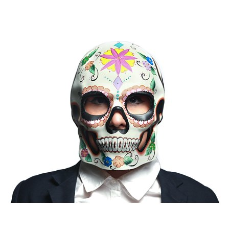 Colorful Floral Design Day of the Dead Sugar Skull Mask / Wall Hanging (Colorful Sugar Skull)