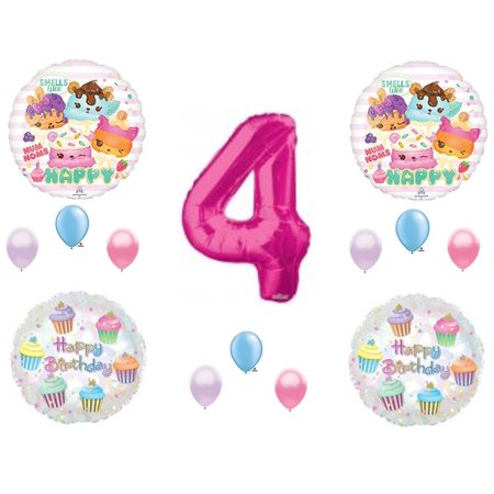 NUM NOMS Cupcakes 4TH BIRTHDAY Party Balloons Decoration Supplies Sprinkles Truck Candy Nom Nums 4th