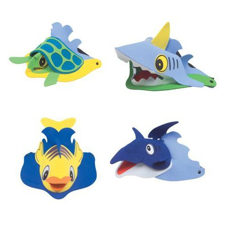 Rhode Island Novelty Sea Animal Visors, Ocean Creature Hat, Costume, Party Favor (1 Dozen) - Party Animal Costume