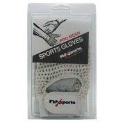Flexsports International Pro Mesh Sports Gloves, White, Large