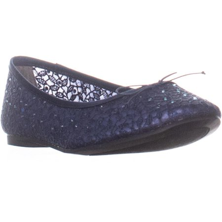Womens Adrianna Papell Shirley Bow Tie Ballet Flats, Navy, 7.5 US New Wedding Bridal Womens Shoes