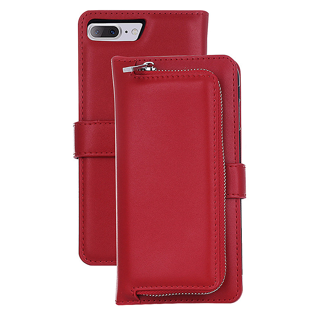 2 IN 1 Leather Wallet Case with Removable Back Cover for iPhone 7 Plus