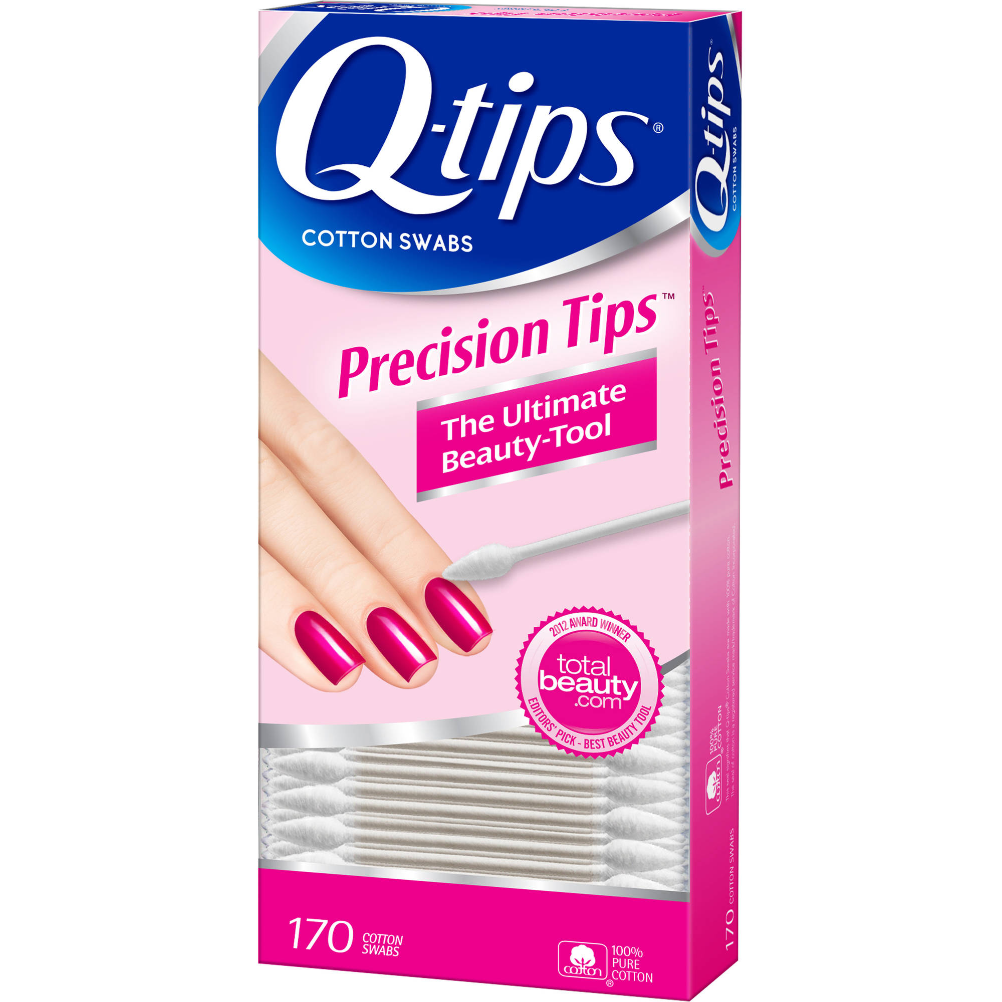 Q-tips Precision Tips Cotton Swabs, 170 count