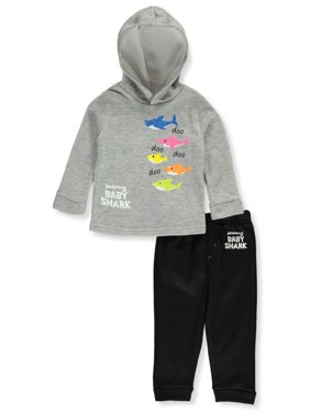 Baby Shark Baby Boys' Swimming Theme 2-Piece Sweatsuit Pants Set