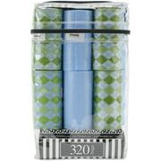 Nandog Waste Bag Replacements 16/Pkg-Green On Blue Diamonds