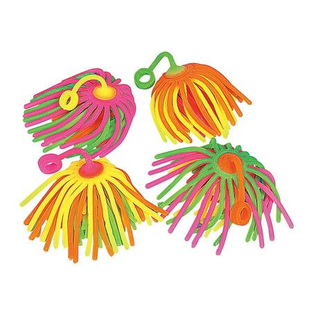 Fun Express - Neon Large Stretchy Noodle Yo yo - Toys - Value Toys - Yo - Yos - 12 (Promotional Yo Yos)