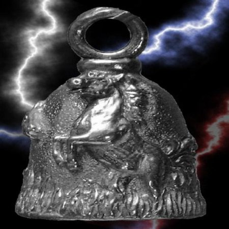 Guardian® Mustang Horse Motorcycle Biker Luck Gremlin Riding Bell or Key Ring