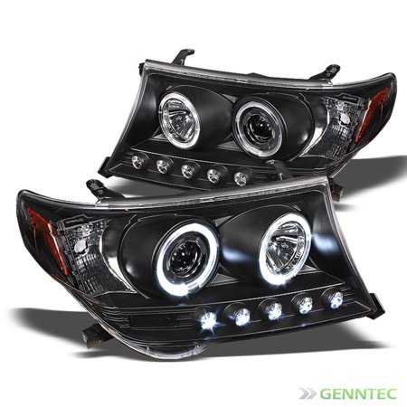2008-2011 Toyota Land Cruiser Twin Halo LED Projector Headlights Head Lights Pair Left+Right 2009 2010