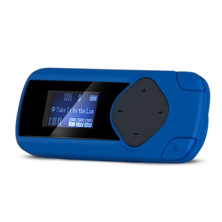 Agptek R2s Clip Mp3 Player  Mini Lossless Sports Music Player With Fm Recording Support Up To 64Gb   Blue