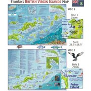 Franko Maps British Virgin Islands Map for Scuba Divers and Snorkelers