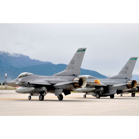 LAMINATED POSTERF-16s of the 31st Operations group, 555th Fighter Squadron, Aviano Air Base, Italy Poster Print 24 x 36