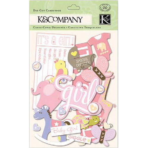 K & Company Cardstock Die-Cuts, Itsy Bitsy Baby Girl