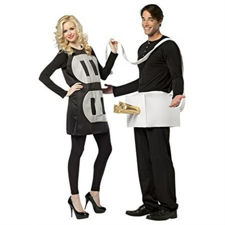 rasta imposta lightweight plug and socket couples costume, black/white, one
