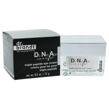 Do Not Age with Dr. Brandt Triple Peptide Eye Cream by Dr. Brandt for Unisex - 0.5 oz Eye - Collin Bota Peptide Eye