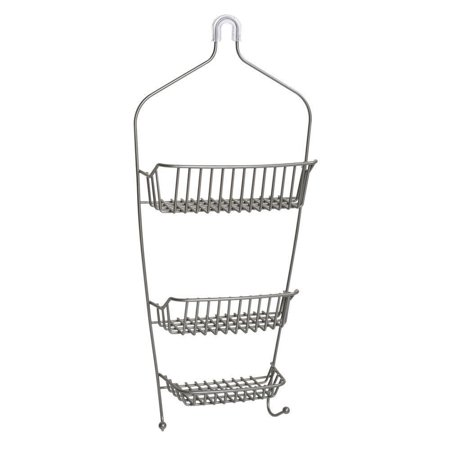 Zenna Home Over the Shower Caddy, Satin Nickel