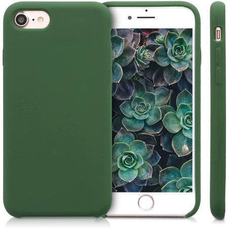 kwmobile TPU Silicone Case for Apple iPhone 7/8 / SE (2020) - Soft Flexible Rubber Protective Cover - Dark Green