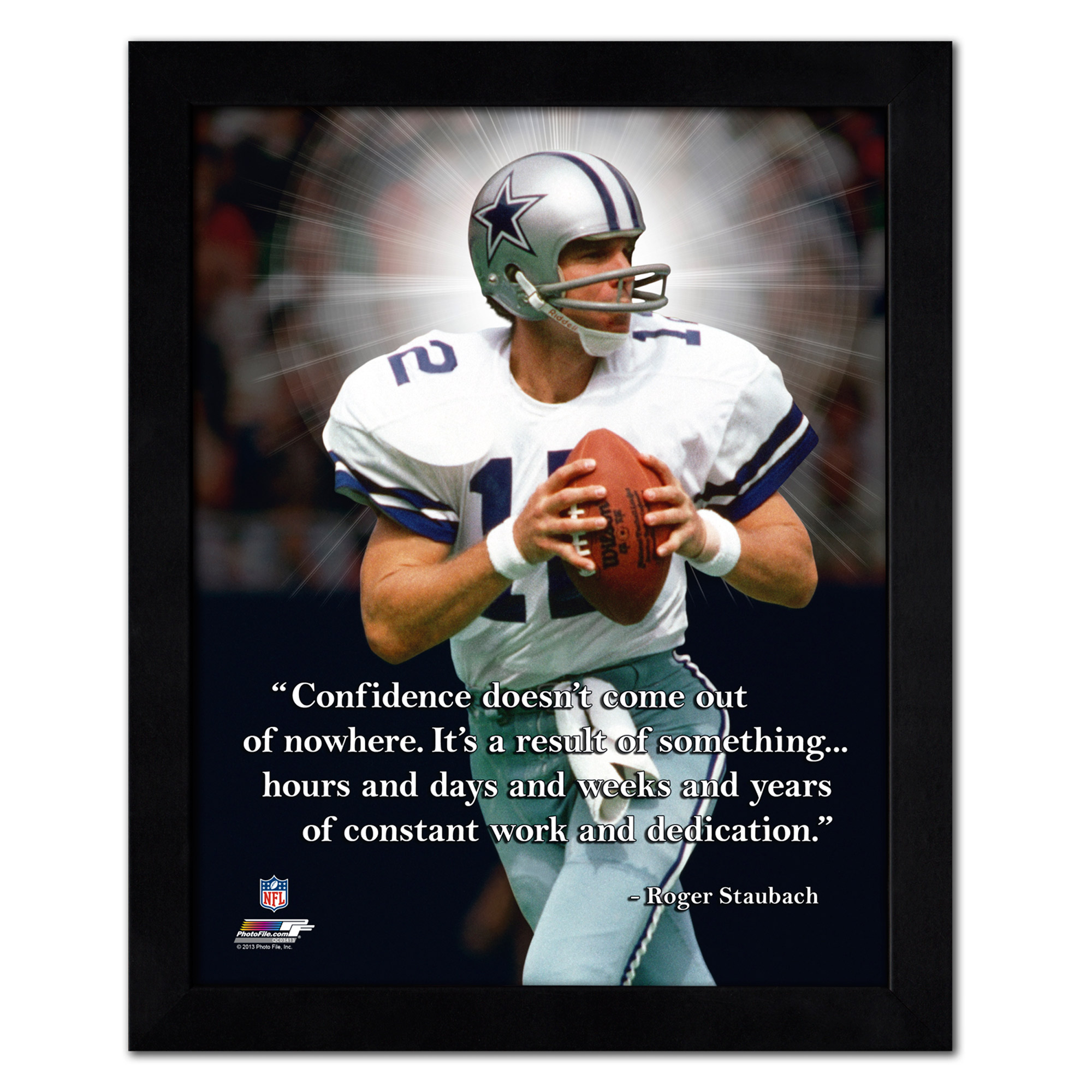 "Roger Staubach Dallas Cowboys 18"" x 22"" ProQuote Photo - No Size"