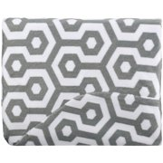 TL Care Heavenly Soft Chenille Fitted Contoured Changing Pad Cover, Gray Honeycomb, for Boys and Girls