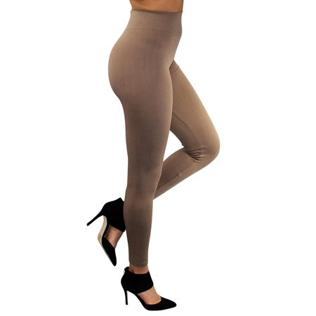 Enimay Women's Gym Leggings High Waist Tights Workout Yoga Pants Beige