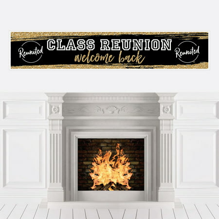 Reunited - School Class Reunion Party Decorations Party Banner](Family Reunion Banners)