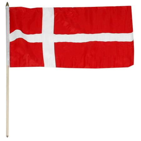 Denmark flag 12 x 18 inch