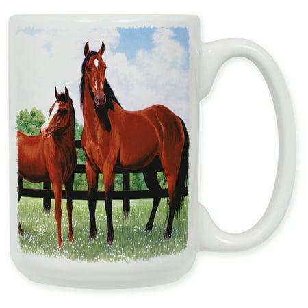 15 Ounce Ceramic Coffee Mug - Horse (Horse Coffee Mug)